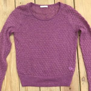 Pretty gold metallic hinge knit sweater small